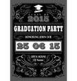 template for posters to graduate party vector image