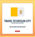 travel to vatican city discover and explore new vector image vector image