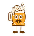 vintage happy beer cartoon character vector image