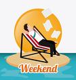 Weekend design vector image vector image