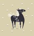 wild horse scandinavian design vector image