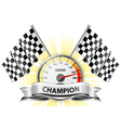winner champion speedometer vector image vector image