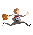 Business man late for meeting or appointment vector image