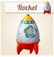 Toy rocket Cartoon Series of vector image