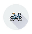 bicycle icon on round background vector image
