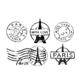 Eiffel Tower stamp vector image