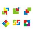Colorfull Cubic Design Element vector image