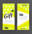 Gift voucher template Coupon design vector image