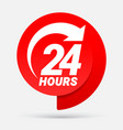 24 hours order execution or delivery service icons