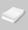 A 4 stack of paper 02 02 vector image vector image