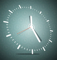 Abstract 3D Clock Face on Blue Background vector image