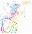 Abstract background with rainbow curved lines
