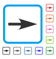 arrow axis x framed icon vector image vector image