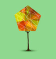 autumn tree in abstract geometry shape style vector image vector image