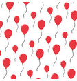 balloon party decoration object background vector image