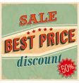 best price sale vector image vector image