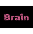 Brain Text of texture brains vector image vector image