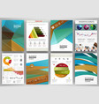 business brochure set abstract concept vector image vector image