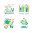 Business Elements Linear Compositions vector image vector image