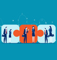 business team connecting concept vector image vector image