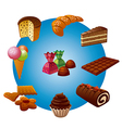 candy icons vector image vector image