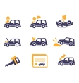 Car Insurance Icons in Flat Style vector image vector image