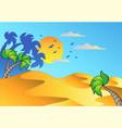 cartoon desert landscape vector image