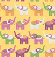 Cheerful seamless pattern with elephants Purple vector image vector image