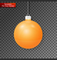 christmas ball on transparent background vector image