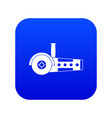 circular saw icon digital blue vector image