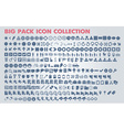 Collection of flat icons with long shadow vector image vector image