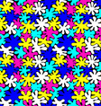 colored bright spots seamless pattern vector image vector image