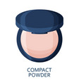 compact powder make up background cosmetic icons vector image vector image