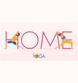 coronavirus banner in stay home do yoga concept vector image