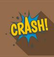 crash explosion speech bubble icon flat style vector image vector image