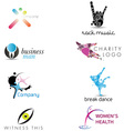 Creative Corporate Identity Elements vector image vector image