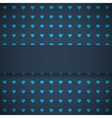 dark blue background with hearts vector image vector image