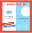 downloading company brochure template busienss vector image vector image