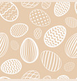easter egg seamless pattern milk chocolate color vector image vector image