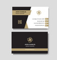 elegant business card vector image vector image