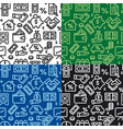finance seamless patterns vector image