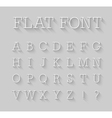 Flat font with shadow effect vector image