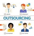 Four types of outsoursing vector image vector image