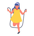 girl jumping rope cute little vector image vector image