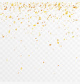 golden foil confetti trimming pieces decoration vector image vector image