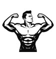 gym sport bodybuilding logo or label strong man vector image vector image