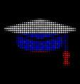 halftone russian graduation cap icon vector image vector image