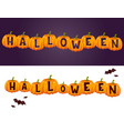 halloween party celebration invitation card vector image