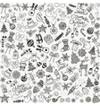Hand Drawn Christmas Doodles Seamless vector image
