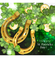 Horseshoes on clover vector image vector image